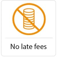 No late fees