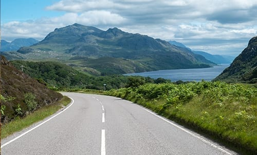 The north coast of Scotland
