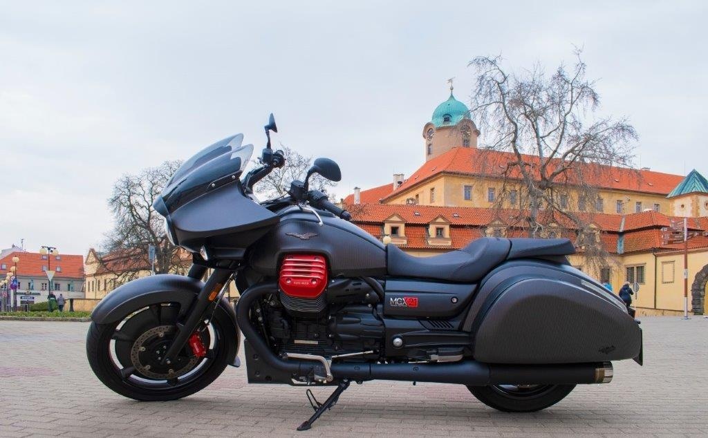 Motorbike on stand