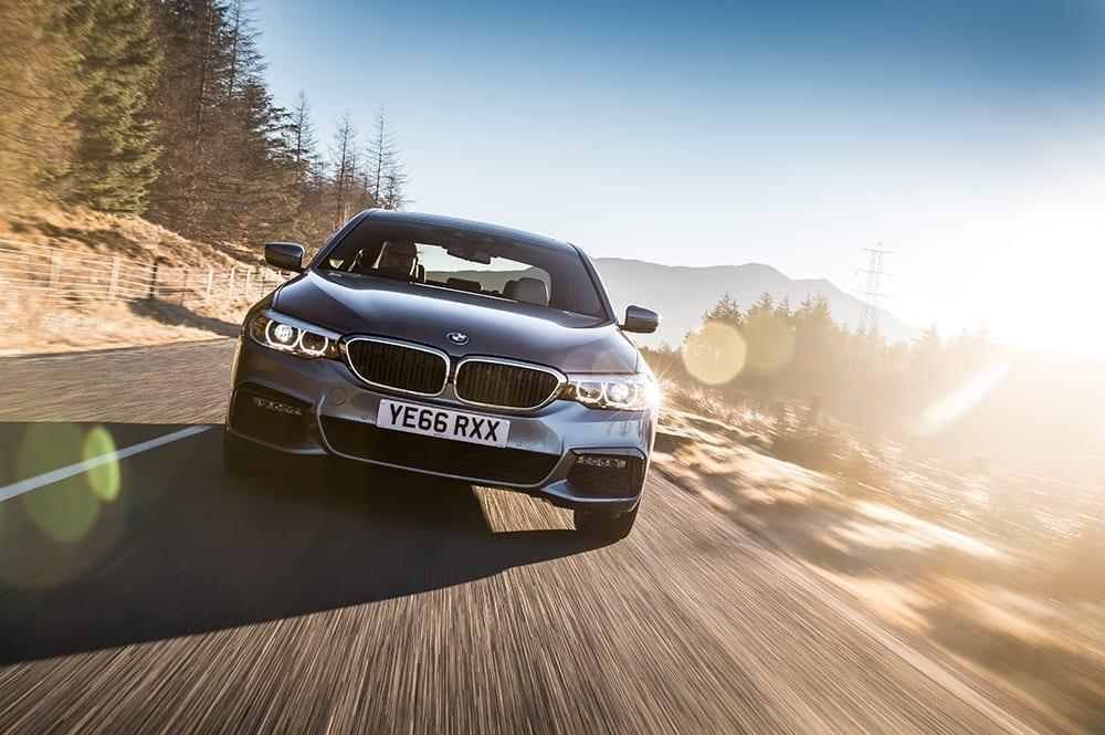 BMW 520d driving