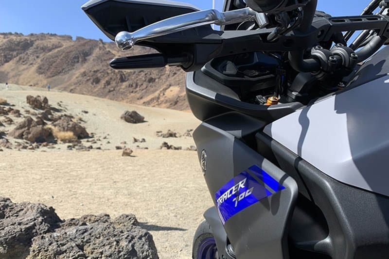 Yamaha Tracer 700 in the desert