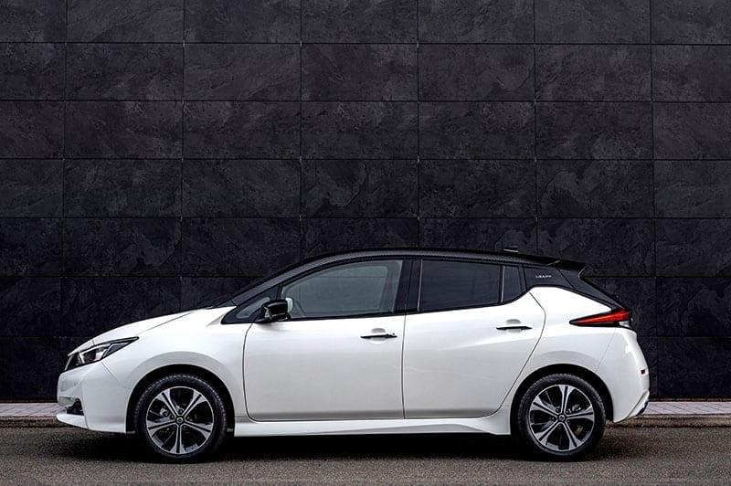 Nissan Leaf parked