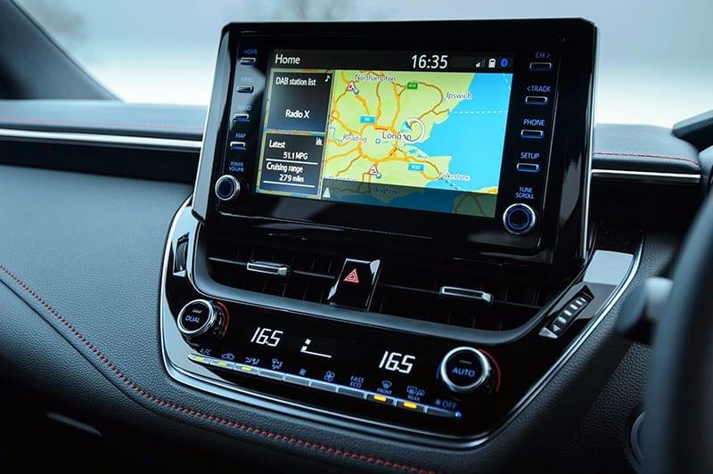 Toyota Corolla infotainment system