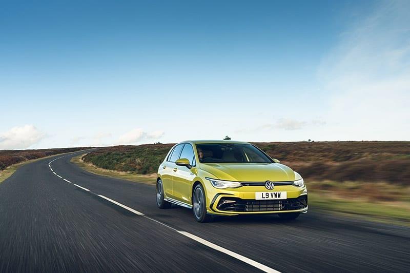 VW Golf driving