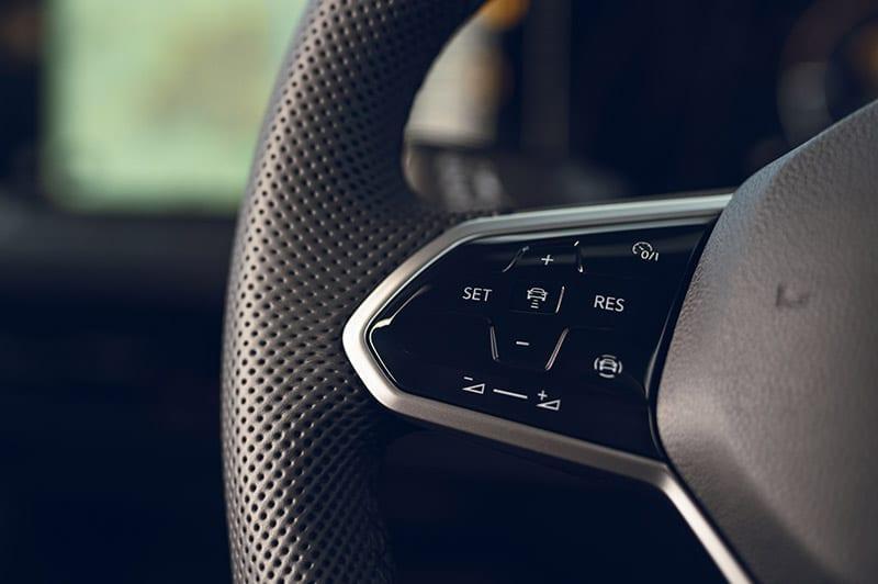 VW Golf steering wheel
