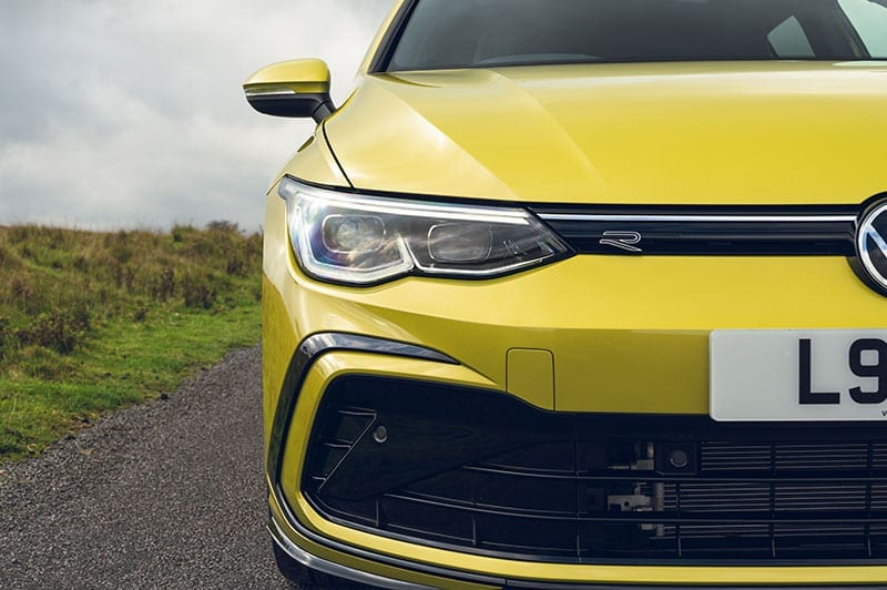 VW Golf front view